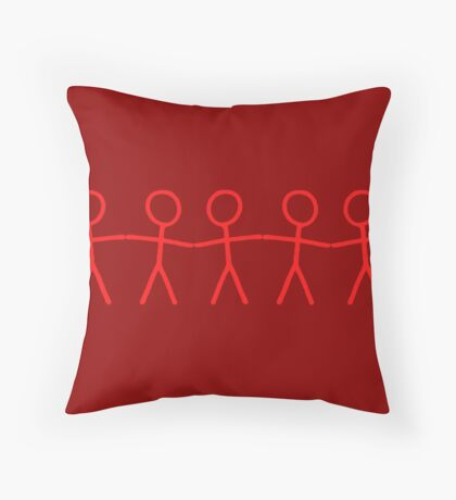 #WalkInRed People Chain Throw Pillow