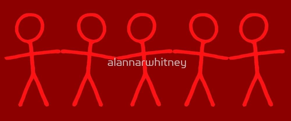 #WalkInRed People Chain by alannarwhitney