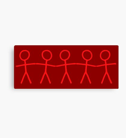 #WalkInRed People Chain Canvas Print