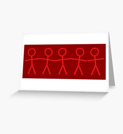 #WalkInRed People Chain Greeting Card