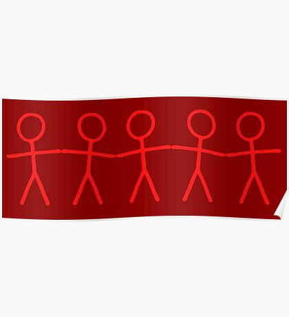 #WalkInRed People Chain Poster