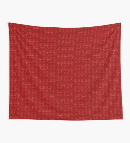 #WalkInRed People Chain Wall Tapestry