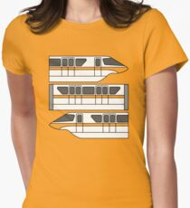 Color Changing Monorail Womens Fitted T-Shirt
