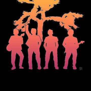 Irish Rock Stars With Orange Red Fill by jeremygwa