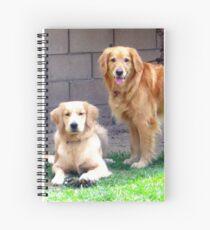 Two Golden Retrievers Spiral Notebook