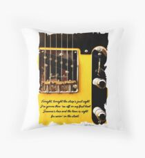 Bruce Springsteen Lyrics Tribute Racin' In The Street. WallsOfFame Throw Pillow