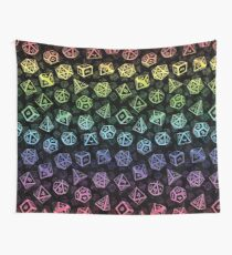 D20 Dice Set Pattern (Rainbow) Wall Tapestry