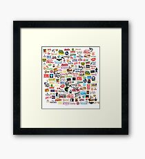 Musical Logos (Cases, Duvets, Books, Clothes etc) Framed Print