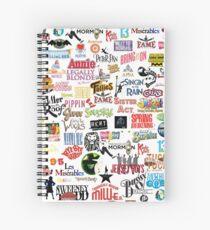 Musikalische Logos (Etuis, Bettdecken, Bücher, Kleidung usw.) Spiralblock
