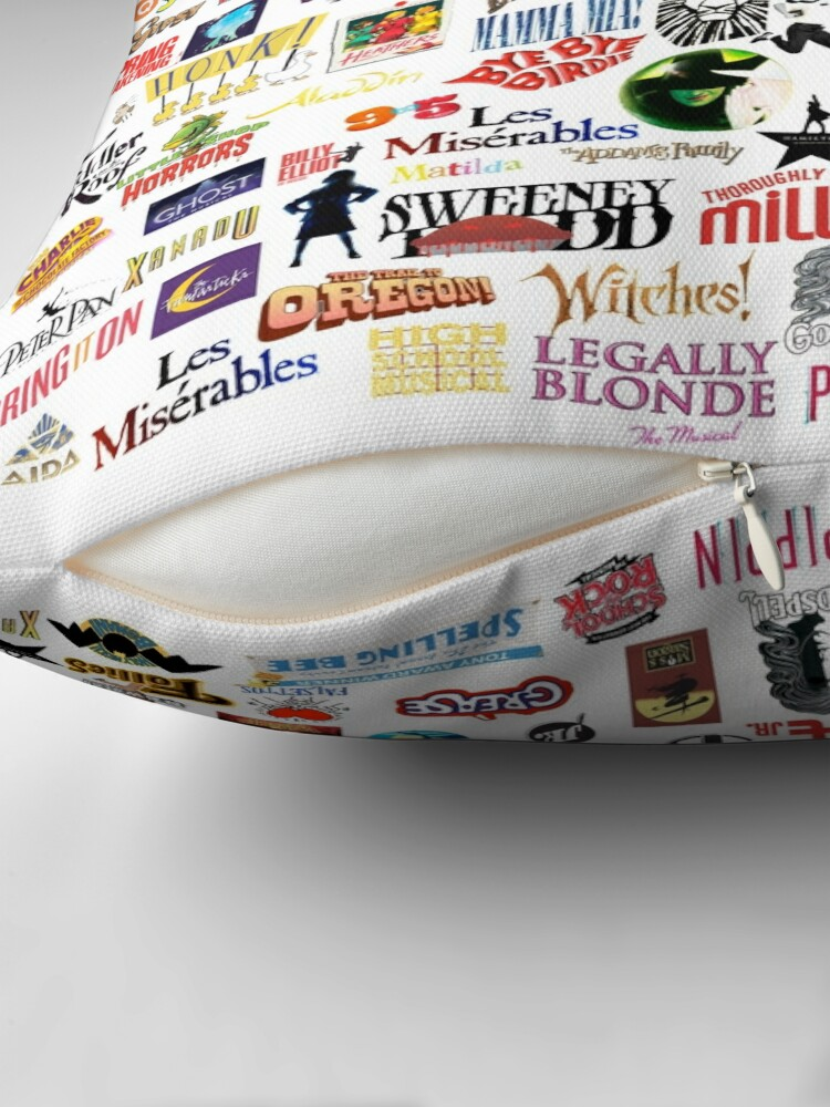 Alternate view of Musical Logos (Cases, Duvets, Books, Clothes etc) Throw Pillow