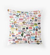 Musical Logos (Cases, Duvets, Books, Clothes etc) Throw Pillow