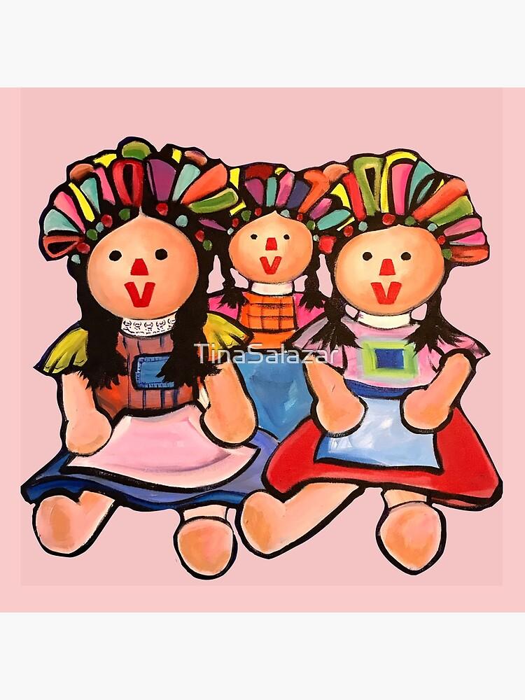 Mexikanische Maria Puppen im Rosa von TinaSalazar