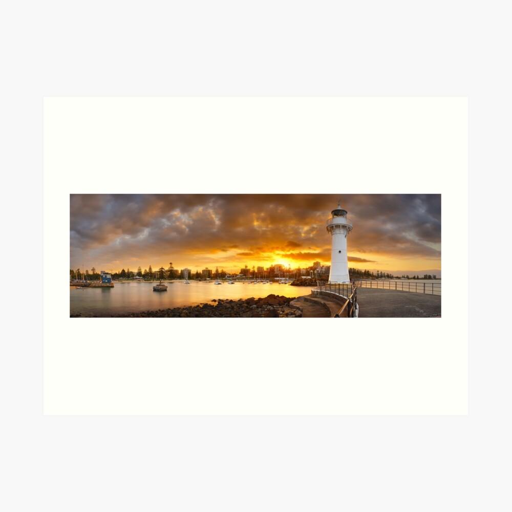 Wollongong Breakwater Lighthouse, New South Wales, Australia Art Print