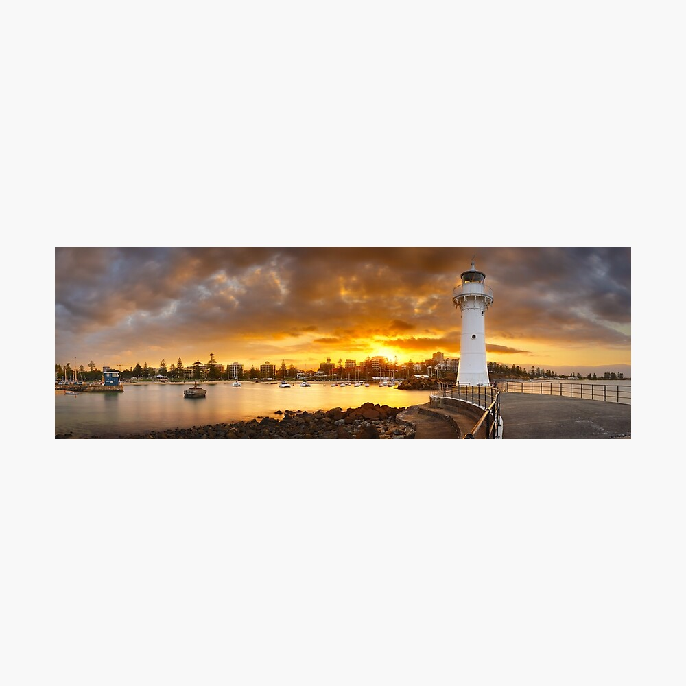 Wollongong Breakwater Lighthouse, New South Wales, Australia Photographic Print