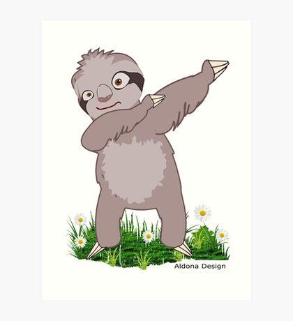 Sloth Dabs Art Print