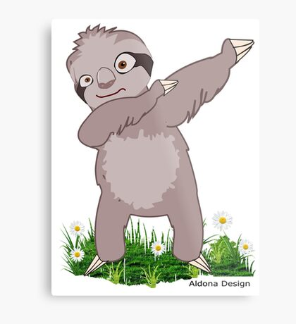 Sloth Dabs Metal Print