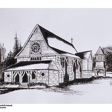 St Barnabas Chapel, Norfolk Island by ROB51