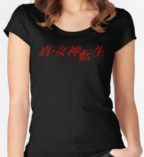 Shin Megami Tensei logo Women's Fitted Scoop T-Shirt