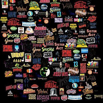 Logotipos musicales negros de thatthespian