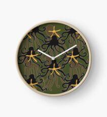 Octopus Camouflage Clock