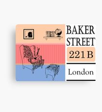 Sherlock Holmes, Baker street 221b Canvas Print