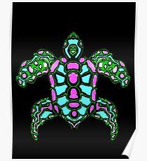 Turtle abstract 1 Poster