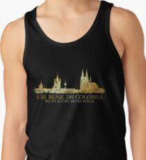 Kölner Skyline mit römischem Köln Spruch Tanktop für Männer
