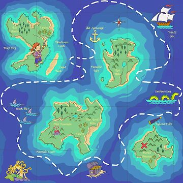 The Ultimate Pirate Treasure Map by wendyhowarth