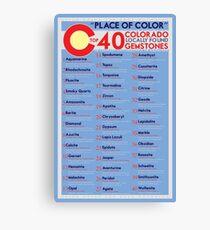 Colorado Top 40 Gemstones Canvas Print