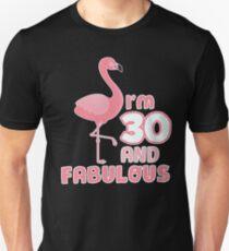 30. Geburtstag Geschenk Flamingo Lustiger Spruch 30 Jahre Slim Fit T-Shirt