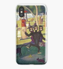 Sunday Afternoon with Three Headed Monkey making mess (Monkey Island) iPhone Case