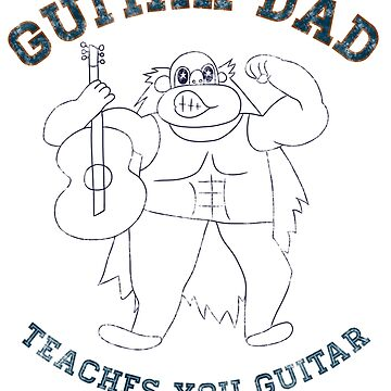 Vintage Guitar Dad by LorraineRenee