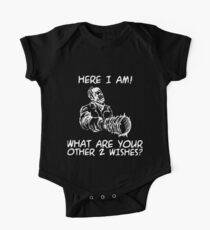 here I am what are your other 2 wishes offensive t-shirts One Piece - Short Sleeve