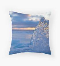 The Ice Pyramid Throw Pillow