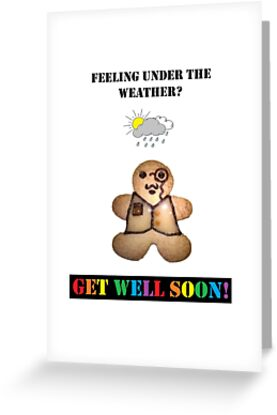 get well soon card gingerbread man greeting cards by