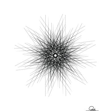 Black and white fine lines geometric mandala by GeometricEye