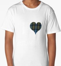 I love Scotland Rugby for the Proud Scot heart Plaid Shirt Long T-Shirt
