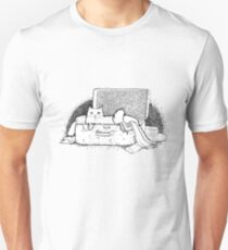 White cat in suitcase Unisex T-Shirt