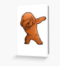 Funny Toy Poodle Dabbing Greeting Card