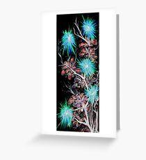 Firework Flower black Greeting Card