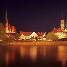 Wroclaw by Night by Kasia Nowak