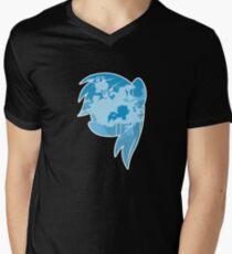 MLP Rainbow Dash Smile Men's V-Neck T-Shirt