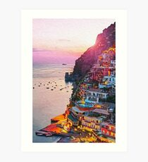 Positano, beauty of Italy Art Print