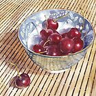 Cherries on Bamboo by Ann Nightingale