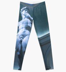 Legging Perfección desnuda - Michelangelos David bajo un oculus azul