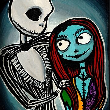 Jack & Sally Painting by mollypopart