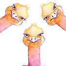 « Les trois autruches » par PerenArt