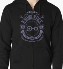 Knowledge Zipped Hoodie