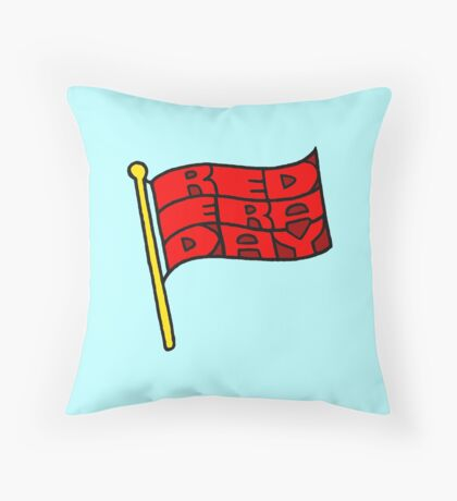 Red Era Day Throw Pillow