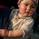 Little Girl of the Red Scarf People, Sapa by Lyn Fabian